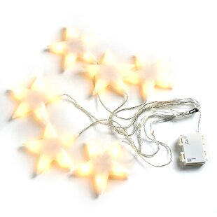 The Holiday Aisle Hersey Patio Snowflake 30-Light Novelty String Lights