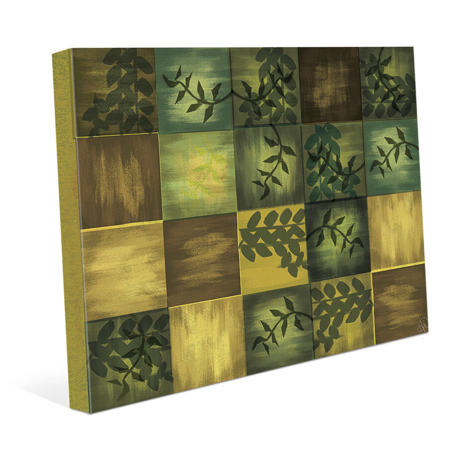 Click Wall Art Summer Tiled Vines Painting Print on Wrapped Canvas ...