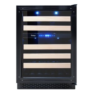 46 Bottle Panel Ready Dual Zone Convertible Wine Cooler by Vinotemp