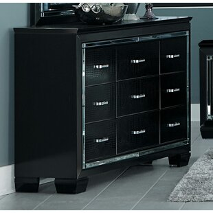 Mindy Traditional 9 Drawer Double Dresser by Canora Grey