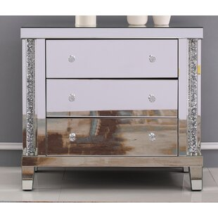 Dillan Crystal Cabinet 3 Drawer Chest by Rosdorf Park