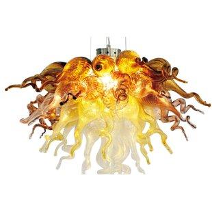 6-Light Novelty Chandelier by Viz Glass