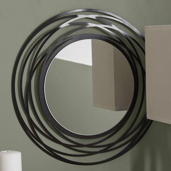 Wall Mirror Round wade logan fluent round wall mirror & reviews | wayfair