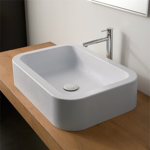 Inexpensive Next Ceramic Rectangular Vessel Bathroom Sink ByScarabeo by Nameeks