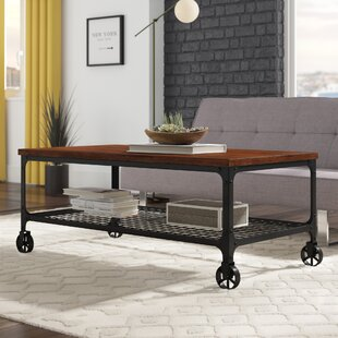 Alpert Industrial Coffee Table By Williston Forge