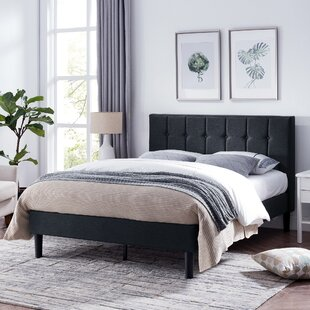 Geno Queen Upholstered Panel Bed by Charlton Home