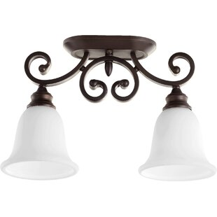 Cambron 2-Light Semi Flush Mount by Winston Porter