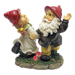 Dancing Duo Gnome Garden Statue By Design Toscano