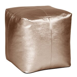 Bismuth Square Pouf Shimmer Ottoman by Merce..