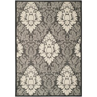 Jarrow Black/Sand Indoor/Outdoor Area Rug II