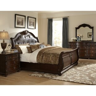 Woodhaven Hill Hillcrest Manor Upholstered Sleigh Bed
