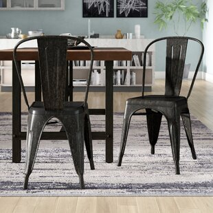 Woking Armless Stackable Bistro Side Chair (Set of 2)