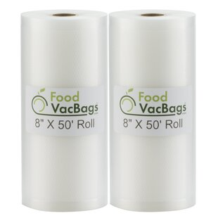 8'' x 50' Vacuum Sealer Roll (Set of 2)
