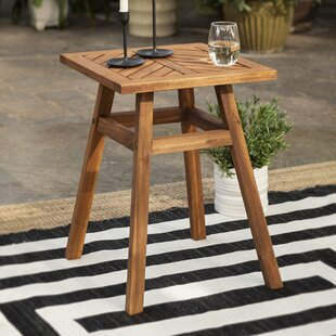 Linda Wooden Side Table By Breakwater Bay