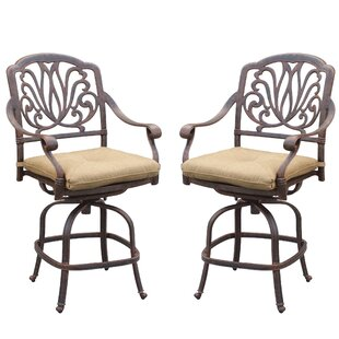 Lebanon 47 inch  Patio Bar Stool with Cushion (Set of 2) Best Choices