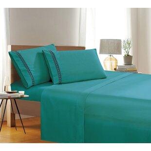 Mustafa Soft Brushed Wrinkle Sheet Set ByWinston Porter