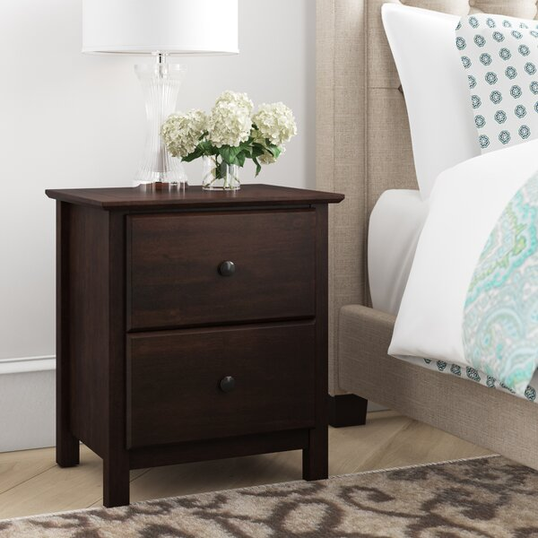 Grain Wood Furniture Shaker 2 Drawer Solid Wood Nightstand Reviews Wayfair