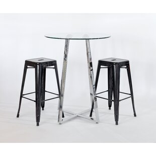 Sharie 3 Piece Pub Table Set By Metro Lane