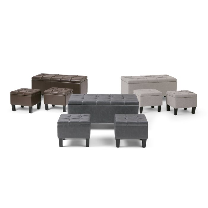 Incredible Washington Mews 3 Piece Storage Bench Set Ncnpc Chair Design For Home Ncnpcorg
