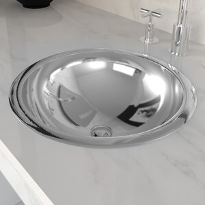 Stainless Steel Oval Drop In Bathroom Sink