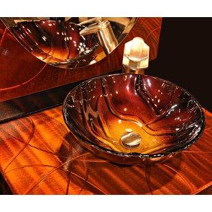 Novatto Rovente Glass Circular Vessel Bathroom Sink