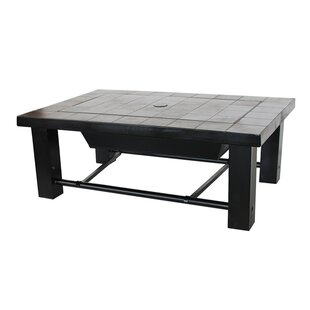 ALEKO Mosaic Tile Slated Convertible Steel Charcoal Fire Pit Table