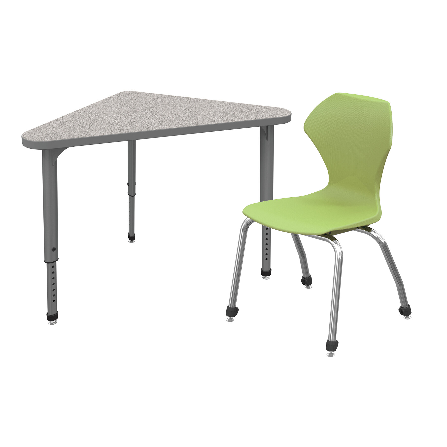 Marco Group Apex Classroom Desk U0026 Chair Set: 12 Wood Adjustable Height  Triangle Desks U0026 12 Chairs | Wayfair
