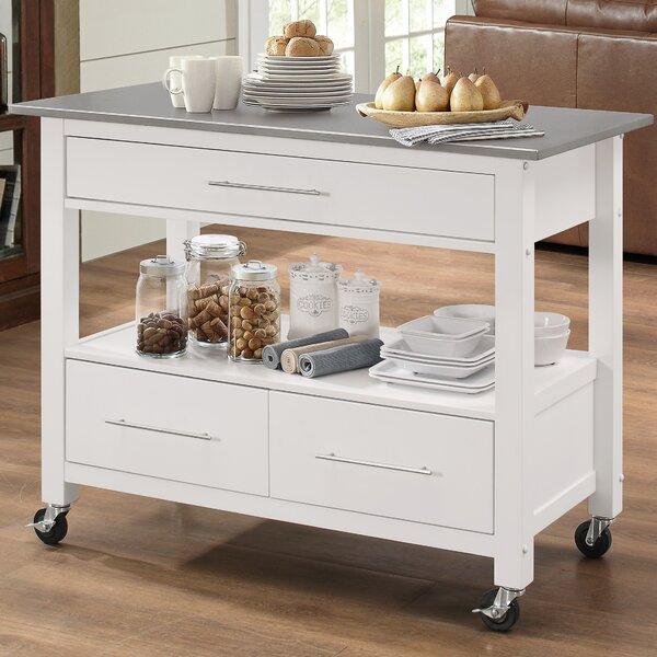 Nice Latitude Run Monongah Rectangular Kitchen Cart With Stainless Steel Top U0026  Reviews | Wayfair