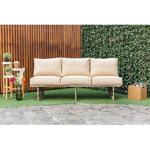 Dakota Outdoor Rattan Patio Sofa with Cushion by Bay Isle Home