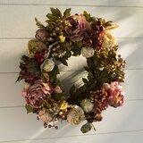 """Peony Hydrangea 24"""" Wreath"""