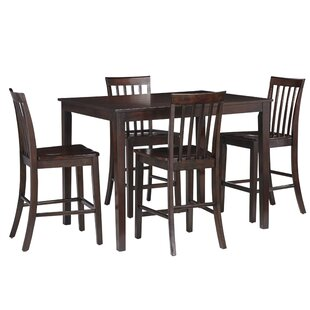 Rolle 5 Piece Pub Table Set by Charlton Home