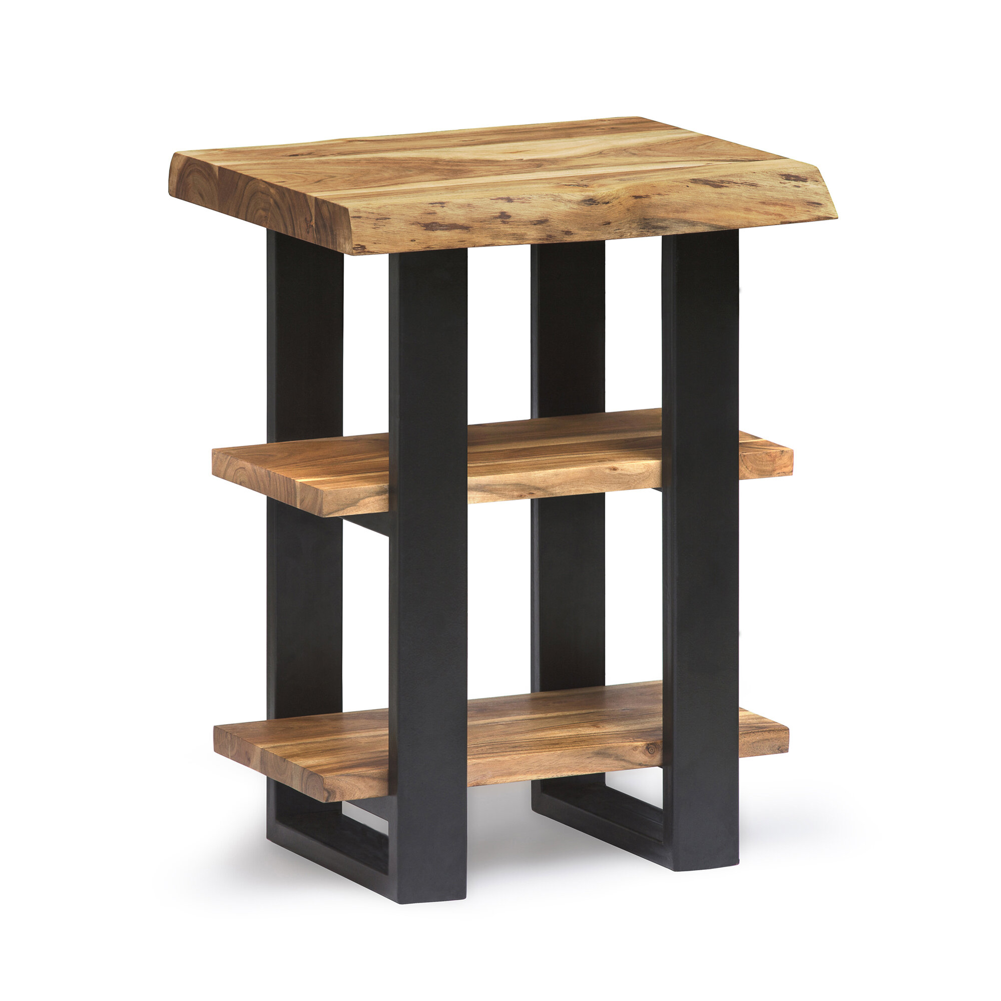 Joss Main Spurgeon Live Edge End Table With Storage Reviews Wayfair