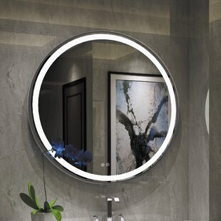 Compare prices Bode Embedded LED Daylight Bathroom Mirror By Orren Ellis