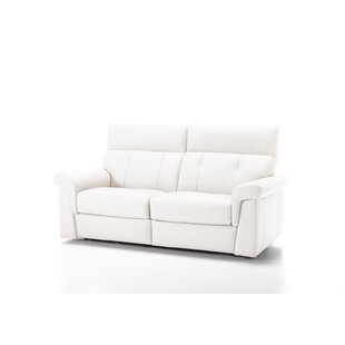 Ditto Genuine Leather Reclining Sofa By Ebern Designs