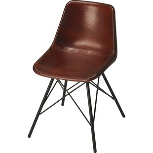 Williston Forge Hennessy Genuine Leather Upholstered Dining Chair
