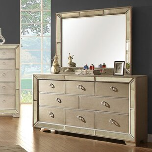 Susann 8 Drawer Double Dresser with Mirror