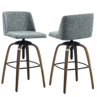 Autaugaville Adjustable Height Bar Stool (Set of 2) by Williston Forge