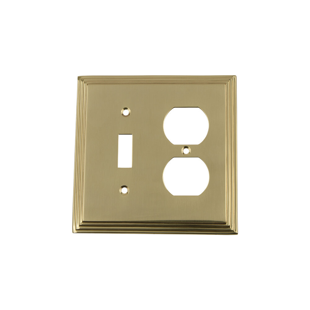 Nostalgic Warehouse Deco 2 Gang Duplex Outlet Toggle Light Switch Combination Wall Plate Wayfair