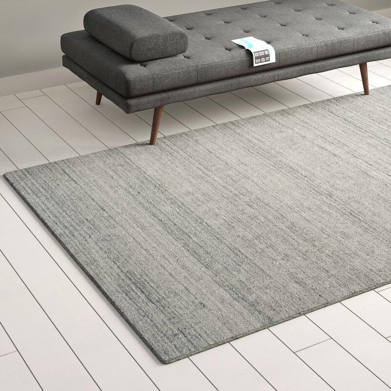 Mori Handwoven Wool Ash Area Rug