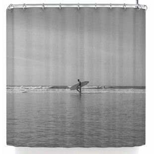 East Urban Home Mary Carol Fitzgerald Soul Space Surfer Shower Curtain