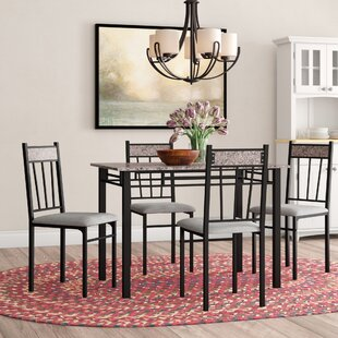 Caspar 5 Piece Dining Set by Winston Porter