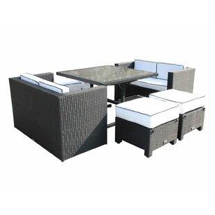 Mira 8 Seater Rattan Sofa Set By Wade Logan