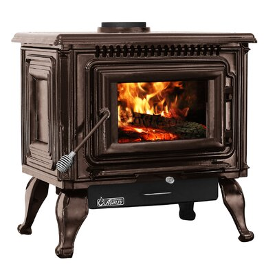 Direct Vent Wood Burning Stove Ashley Hearth Finish: Gloss Mahogany
