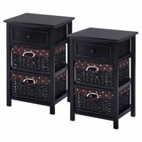 Lusk 1 Drawer Nightstand (Set of 2) by Alcott Hill®