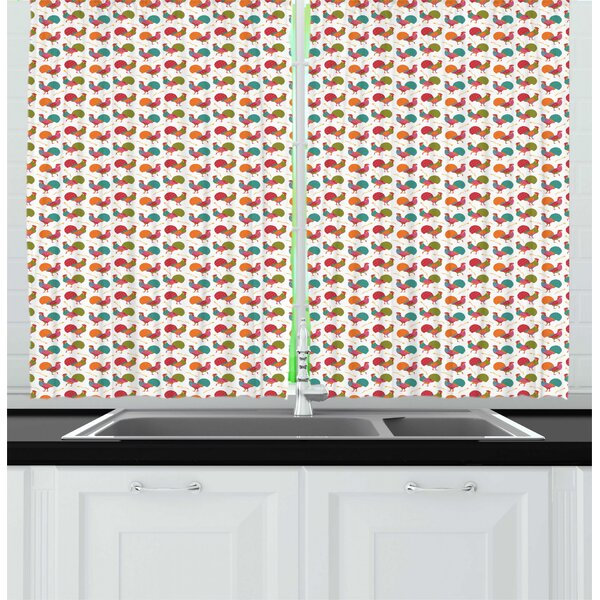 Rooster Kitchen Curtains Wayfair