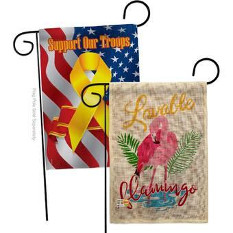 Breeze Decor Lovable Flamingo Burlap 2 Sided Polyester 18 5 X 13 In Garden Flag Wayfair