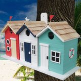 Birds of a Feather Series Brighton Beach Huts 8.5 in x 17 in x 6 in Birdhouse
