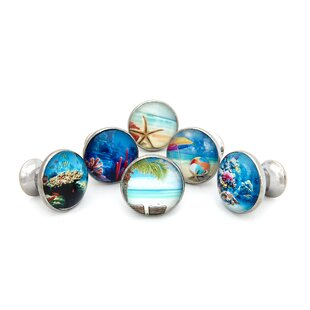Tropical Ocean Beach Theme Round Knob (Set of 6) by Shabby Restore