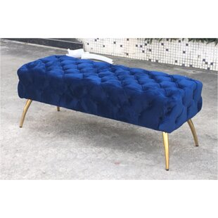 Centeno Button-Tufted Upholstered Bench