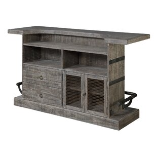 Dasilva Bar with Wine Storage by Williston Forge